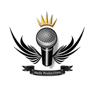 Professional logo creation for a company called made productions