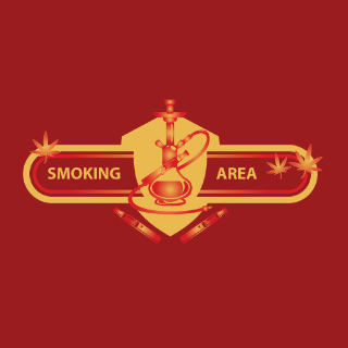 a logo project we did for a place called smoking area